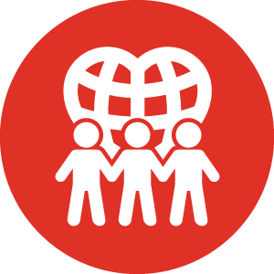people and community heart icon