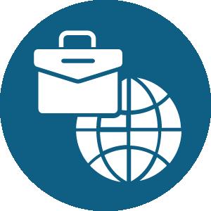 briefcase and globe icon