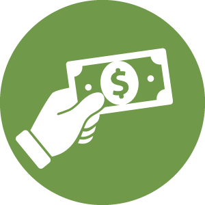 hand and money icon