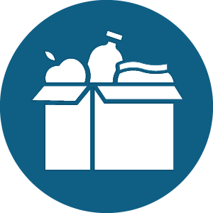 box of groceries icon