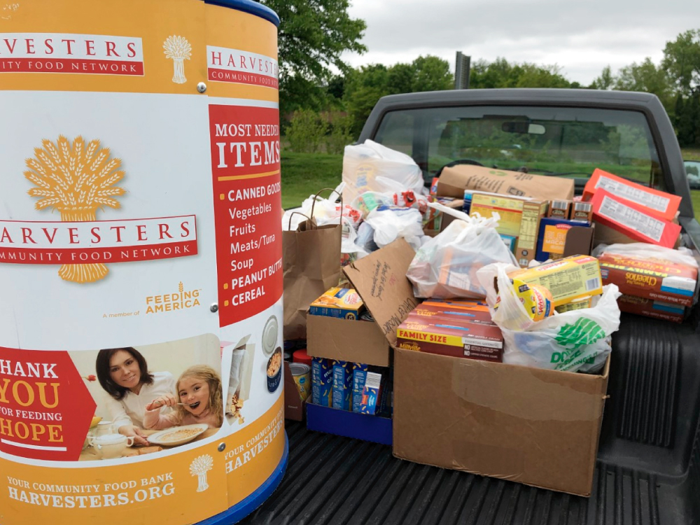 Food Donation in Truck
