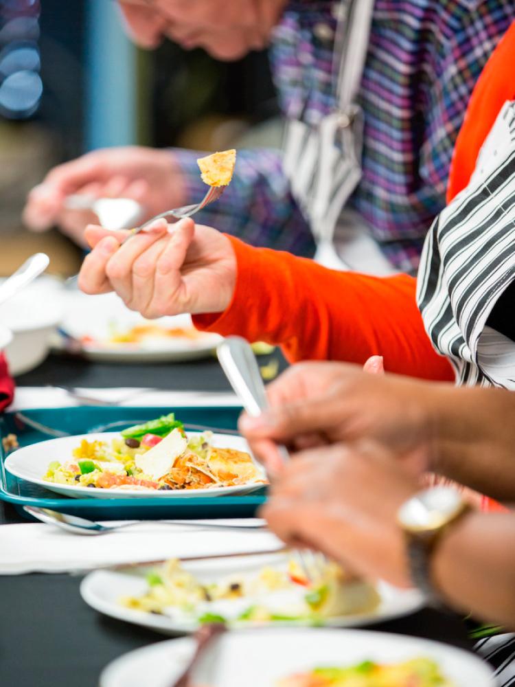 Judges Tasting Lunch Challenge Meal