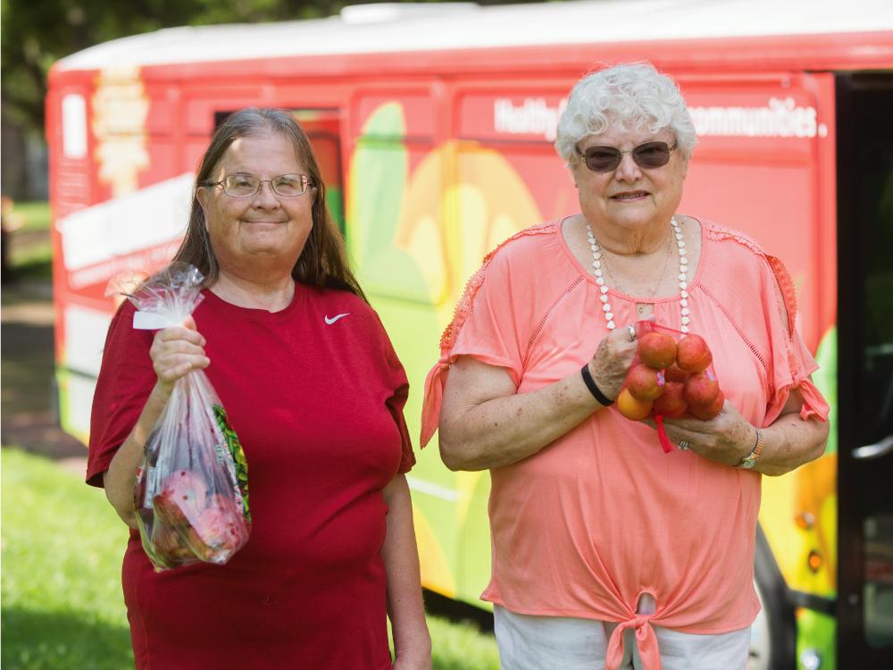 Senior Women at Mobile Distribution
